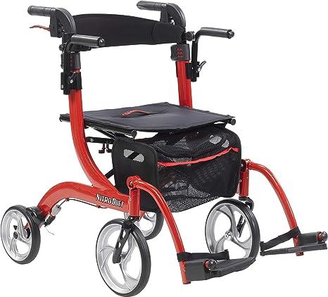 Amazon.com: Drive Nitro Duet - Silla de ruedas y rodillo con ...
