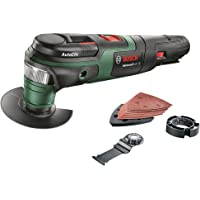 Bosch Cordless Oscillating Multi Tool AdvancedMulti 18 (Without Battery, 18 Volt System, 2 x Blades, Sanding Set and…