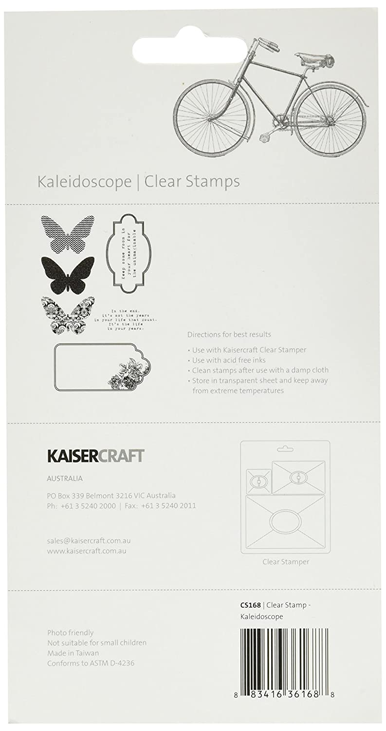 Kaisercraft CS168 Acrylic Rubber Kaleidoscope Stamp, 6 25 by 4-Inch, Clear