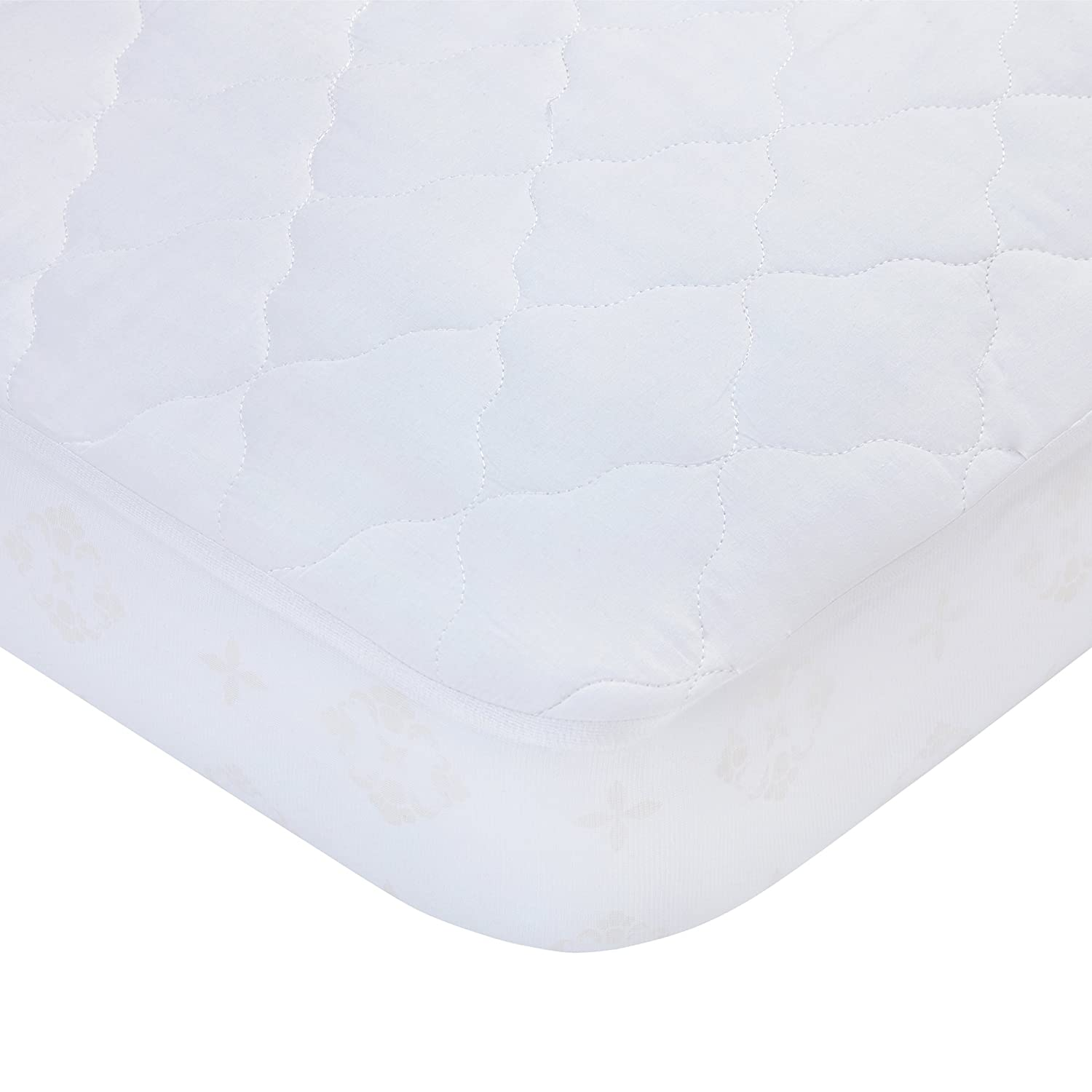 Carters Keep Me Dry Waterproof Fitted Quilted Crib Pad White