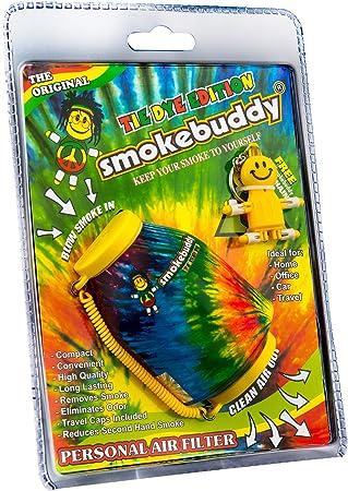 """Smoke Buddy The Original PERSONAL AIR FILTER /""""Tie-Dye/"""" w// FREE Keychain"""