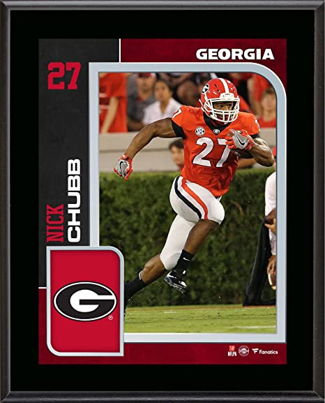 Image Unavailable. Image not available for. Color  Nick Chubb Georgia  Bulldogs ... 547a1c2f9
