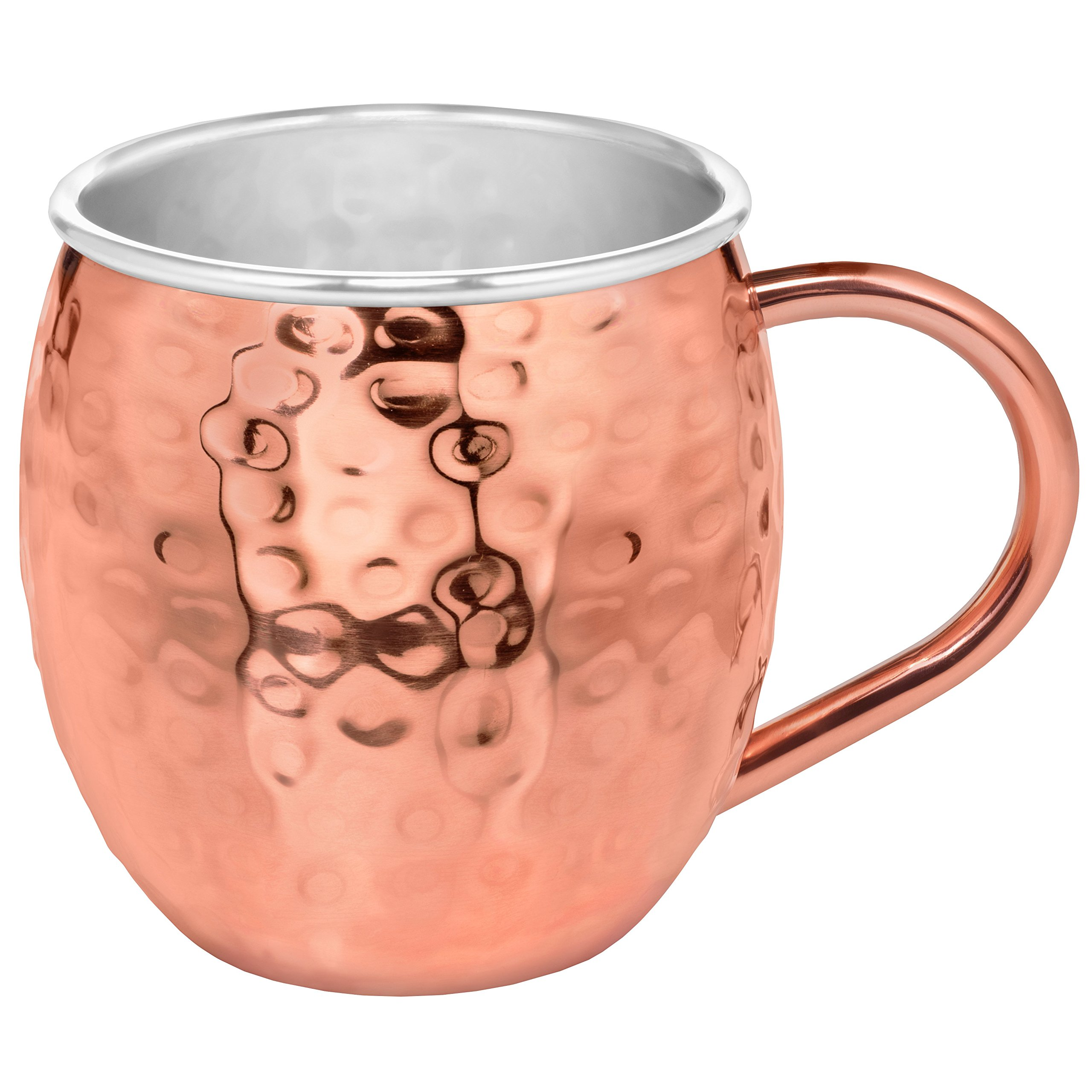 Set of 2 Moscow Mule Copper Mugs with Stainless-Steel Lining | Set of 2 Moscow Mule Mugs with Copper Shot Glass | Set of 2 Mule Mugs Lined with Stainless-Steel, Mint Julep Mugs for Home Bar by Urban Vintage LA (Image #2)