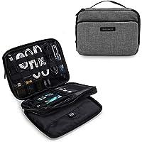Organizador de cabos eletrônicos de viagem de 3 camadas da Bagsmart com bolsa para iPad Mini, discos rígidos, cabos…