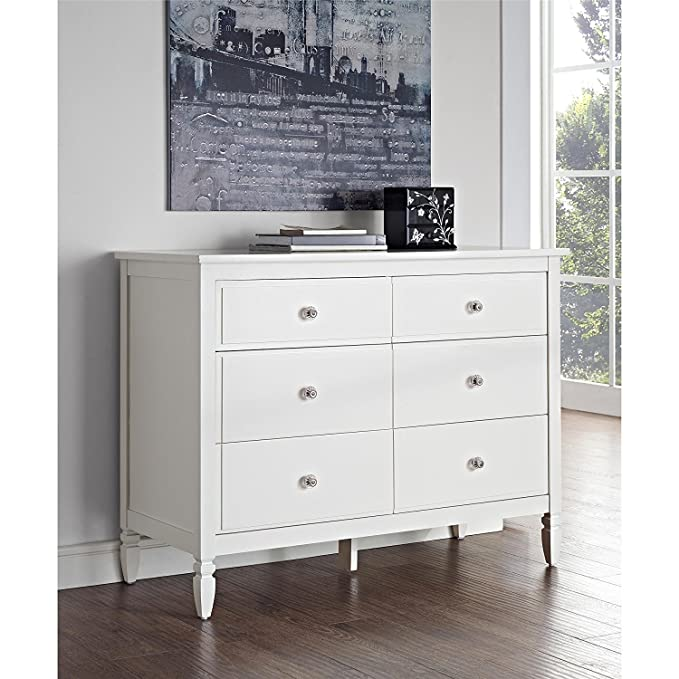 Amazon.com: Dorel Living Vivienne 6 Cajón Dresser, color ...