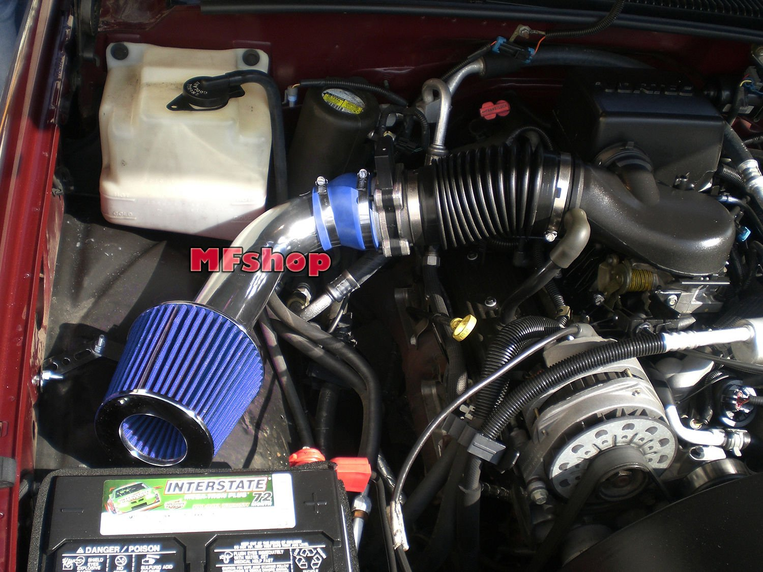Blue Filter Accessories 1996 1997 1998 1999 2000 Chevy Tahoe 5.0L 5.7L V8 Air Intake Filter Kit System
