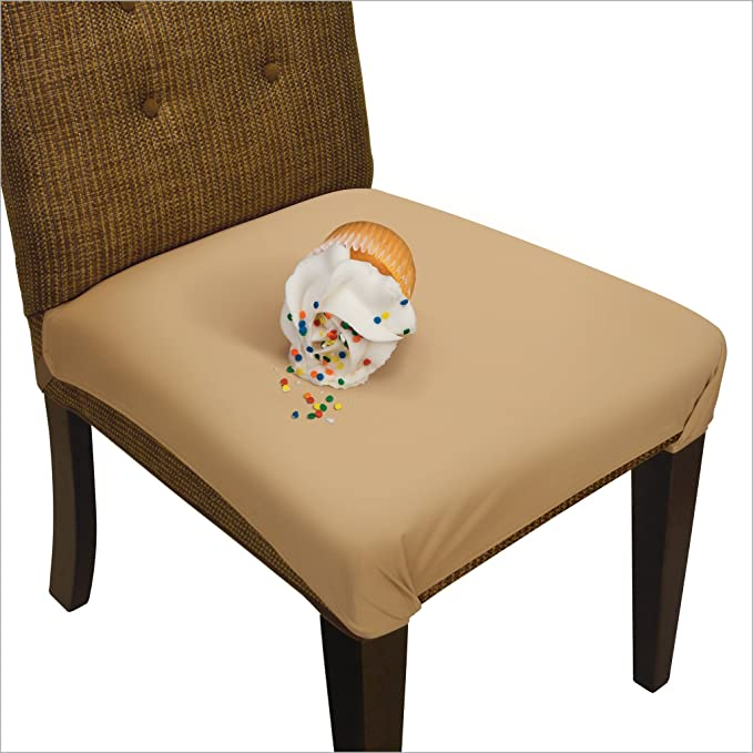 SmartSeat Dining Chair Cover and Protector - Sandstone Tan - pack of 6