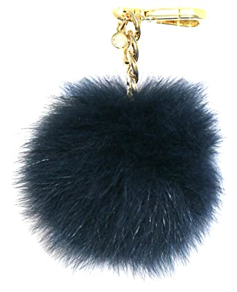 19a3f2549366 Image Unavailable. Image not available for. Color  Michael Kors Medium Fur  Pom Pom Charm Keychain ...