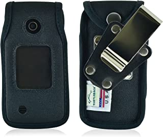 product image for Turtleback Fitted Case Made for LG Terra VN 210 Flip Phone Black Nylon Heavy Duty Rotating Removable Metal Belt Clip Made in USA