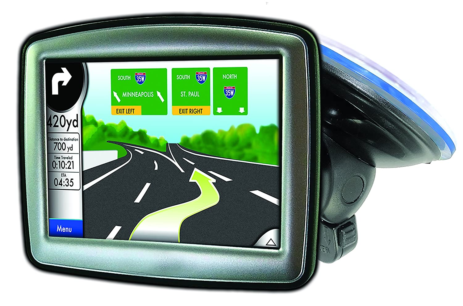 Garmin Nuvi TomTom Via Go Magellan DashCam Navigator Smartphones t-notch plate included Bracketron SWM-400-BL Navigation Low Pro Windshield Mount with Garmin /& other GPS Adapters
