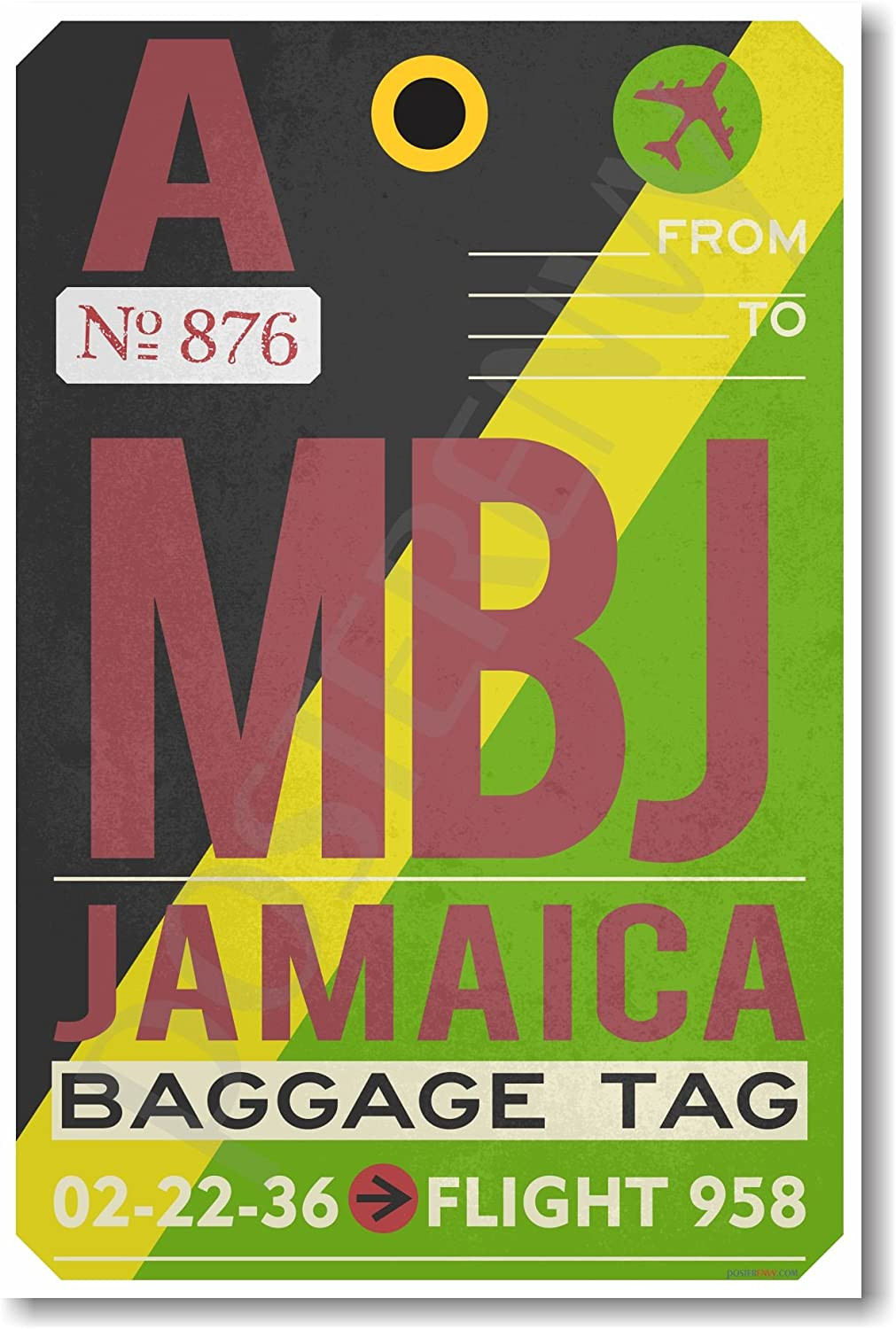 Airport Tag Jamaica tr589 NEW Travel POSTER MBJ