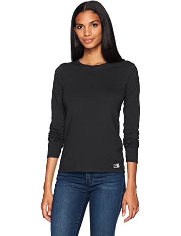 72cc11b986 Russell Athletic Women's Essential Long Sleeve Tee, Black, XS at Amazon  Women's Clothing store: