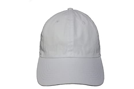 197a62cc6e7 Amazon.com  WHITE Plain Hat Cap .. NEWHATTAN ..Great Quality .. New ...