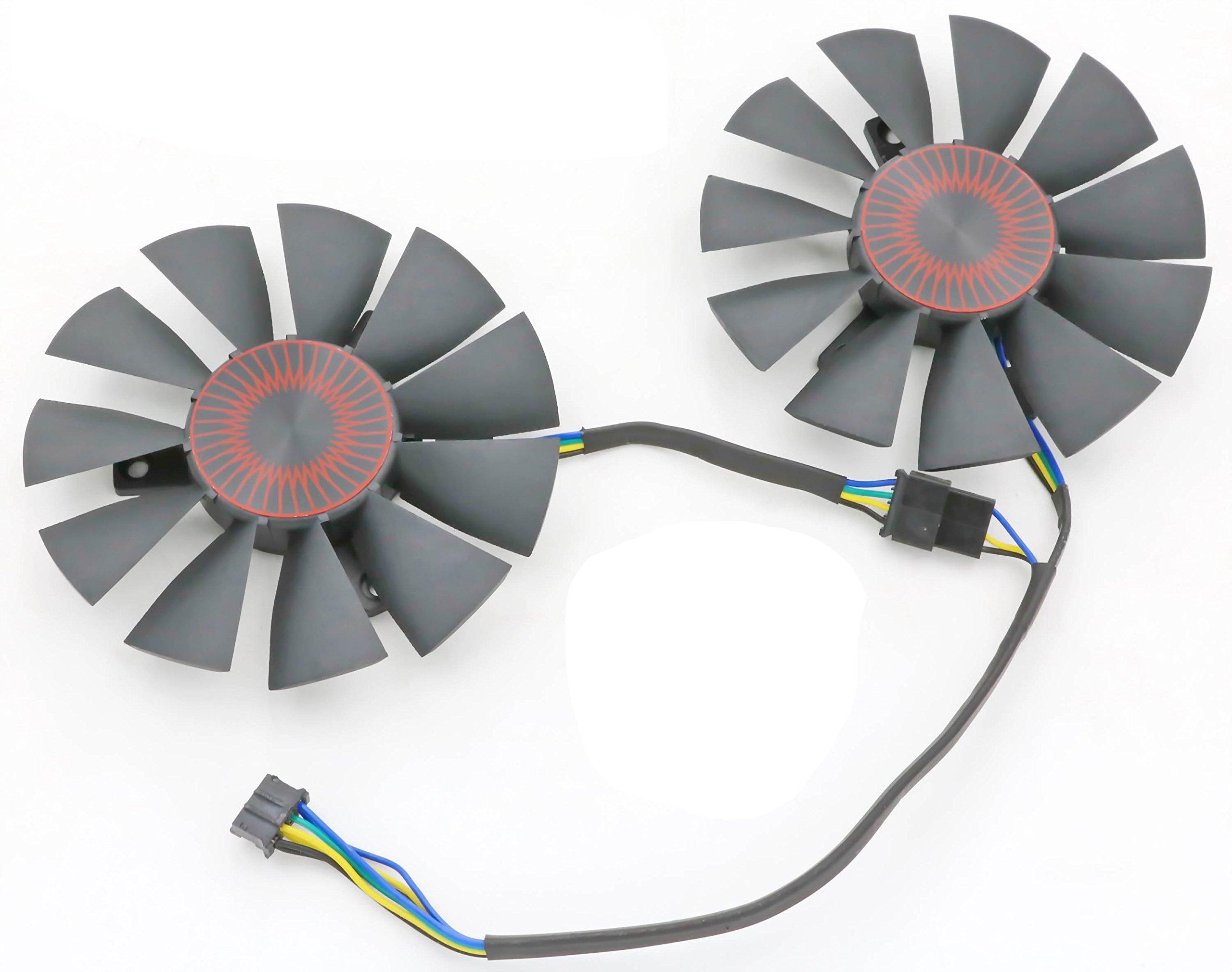 Replacement Video Card Cooling Fan For STRIX GTX 960 GTX950 GTX 750TI R9 370 Graphics Card Fan 75mm 4Pin