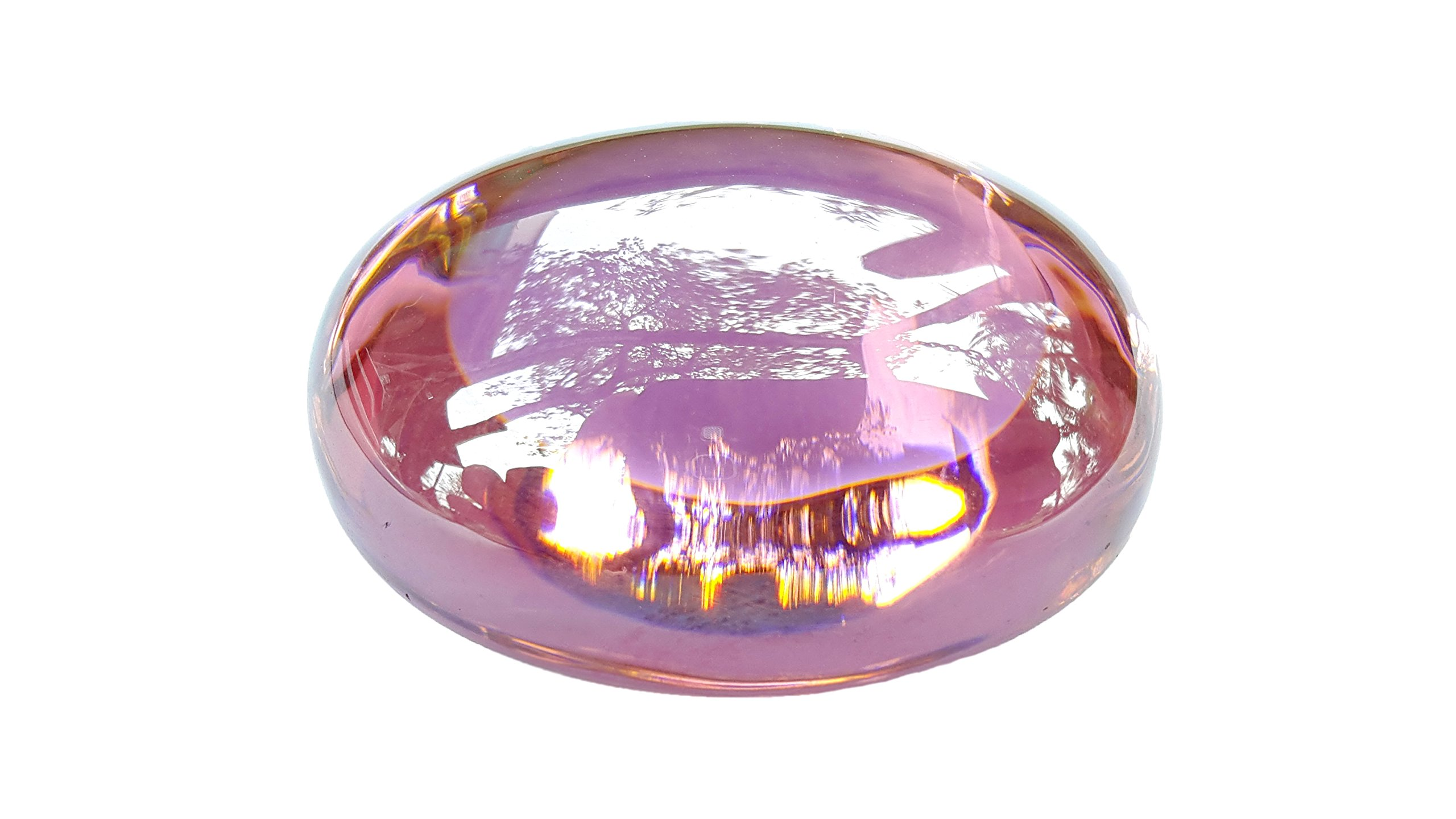 Beautiful pink naga eye gem stone 72 gram Thai Buddha amulet protection rich & success with amulet box
