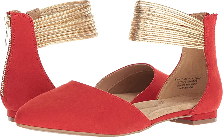 41a8391a5 Aerosoles Women's Girl Talk Ballet Flat, Red Combo, 5 M US. Back.  Double-tap to zoom