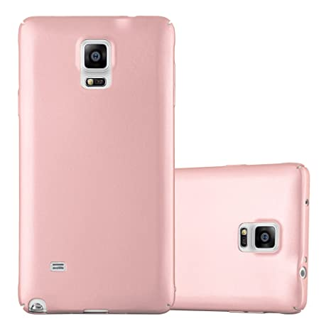 Cadorabo Case Works with Samsung Galaxy Note 4 in Metal ROSÉ Gold – Shockproof and Scratch Resistent Plastic Hard Cover – Ultra Slim Protective Shell ...