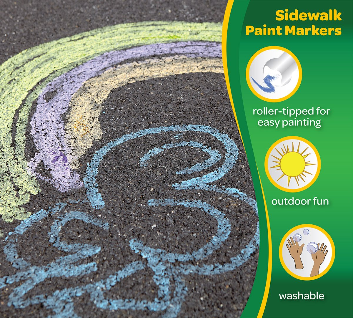 Crayola Neon Paint Markers, Outdoor Toy Sidewalk Paint, 4 Color Pack by Crayola (Image #2)
