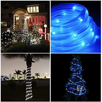 Amazon.com : LinkStyle 33ft Solar Rope Lights, Solar Powered String ...