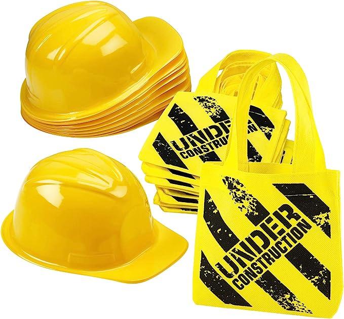 Unique Party 52152 Construction Party Gift Bag NEW