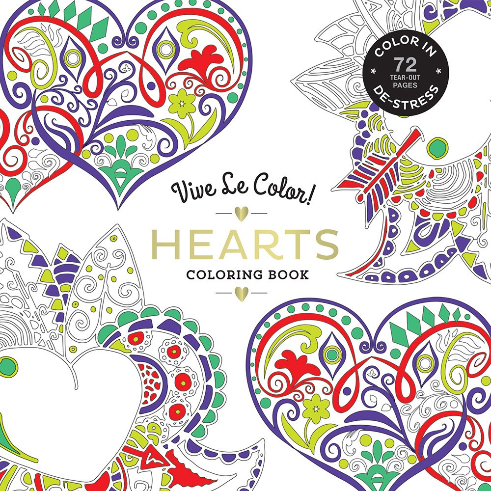 Coloring book color of art - Vive Le Color Hearts Adult Coloring Book Color In De Stress 72 Tear Out Pages Abrams Noterie 9781419724367 Amazon Com Books