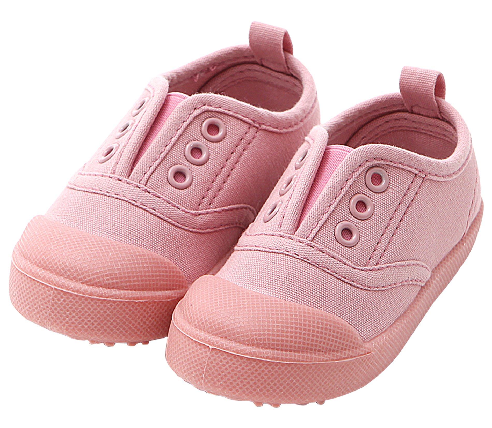 Ozkiz Boys Girls Shoes Slip-on Casual Canvas Sneaker for Toddler/ Little Kid pk 8M