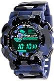 TIMEWEAR Multicolor Dial Army Blue Strap Digital Sports Watch for Men - 1115BTWD