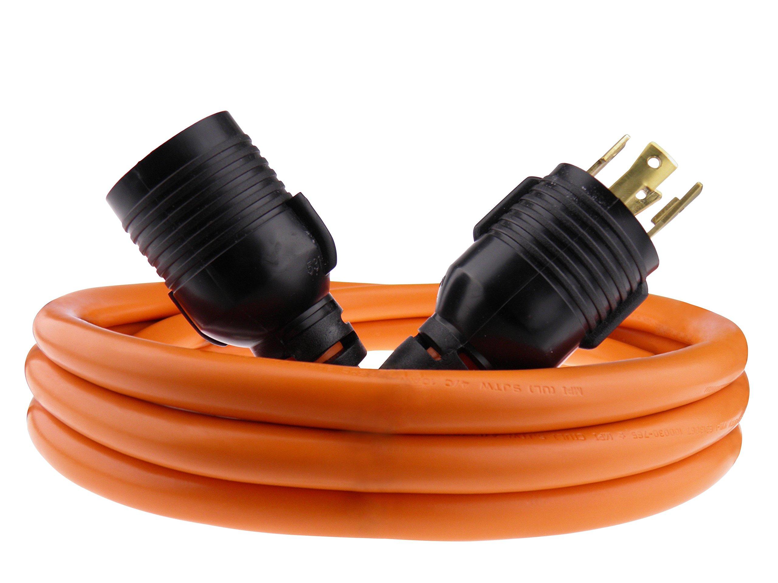 Nema L14-30 Generator Power Cord 4 Wire 10 Gauge 125/250v 30 Amp 10 Feet