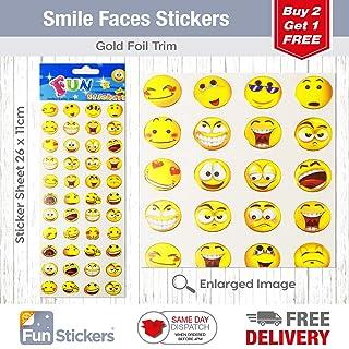 Fun Stickers Smile Faces 204