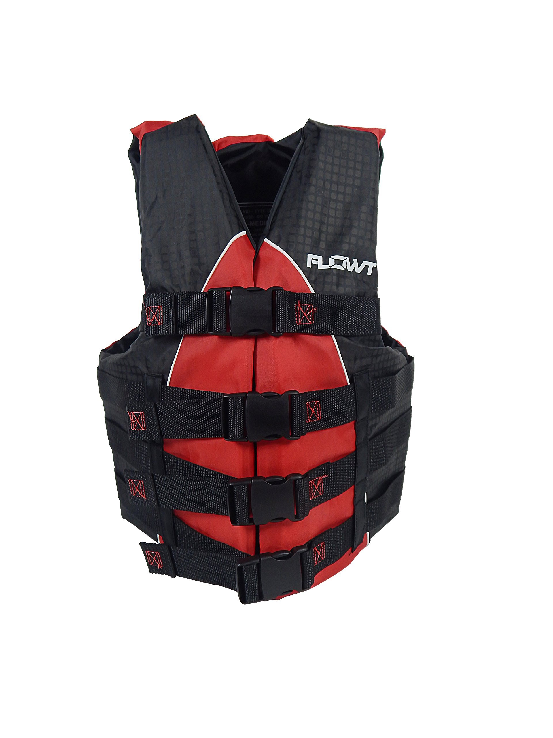 Flowt 40402-2-S/M Extreme Sport Life Vest, Type III PFD, Closed Sides, Red, Small / Medium, Fits chest sizes 32'' - 40'' by Flowt