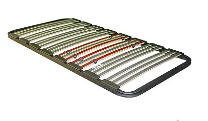 Bonitex - Somier multiláminas 90x190cm (sin patas) con REGULADORES LUMBARES, FIRMEZA ADAPTABLE, TUBO 40x30MM y LÁMINAS de HAYA natural antideslizantes