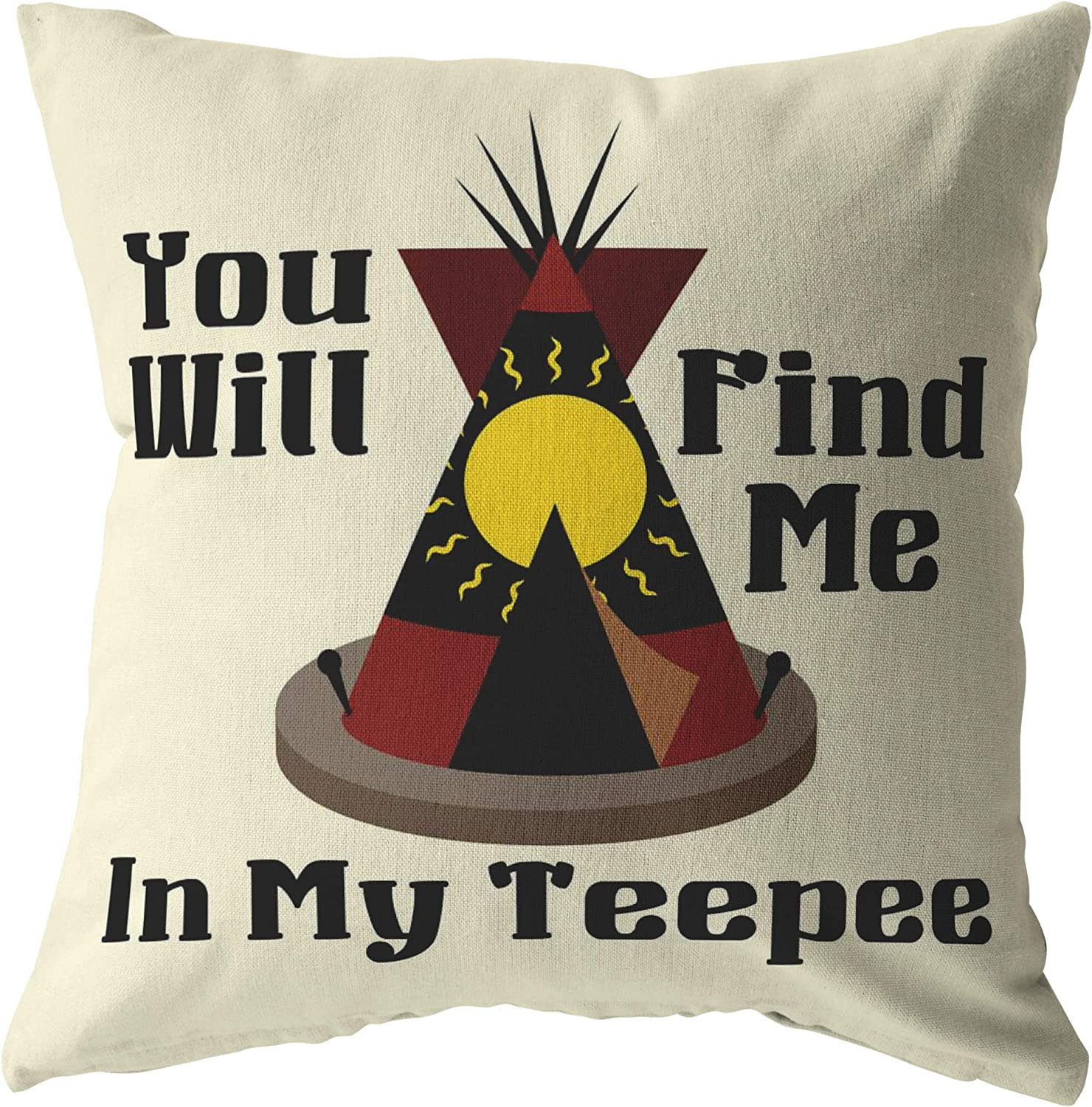 Amazon Com Red Gypsy Bohemian Teepee Throw Pillow Colorful Home Decor You Will Find Me Tipi Tepee Kitchen