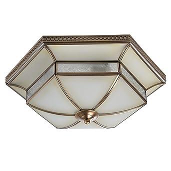 Tiffany - Lámpara de techo (Cristal Mate latón metal color 4 ...