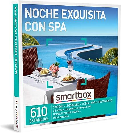 SMARTBOX - Caja Regalo - Noche Exquisita con SPA - Idea de Regalo - 1 Noche con Desayuno, Cena y
