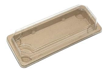 Bandejas de sushi rectangulares desechables, ecológicas y degradables, cajas de comida, cajas con