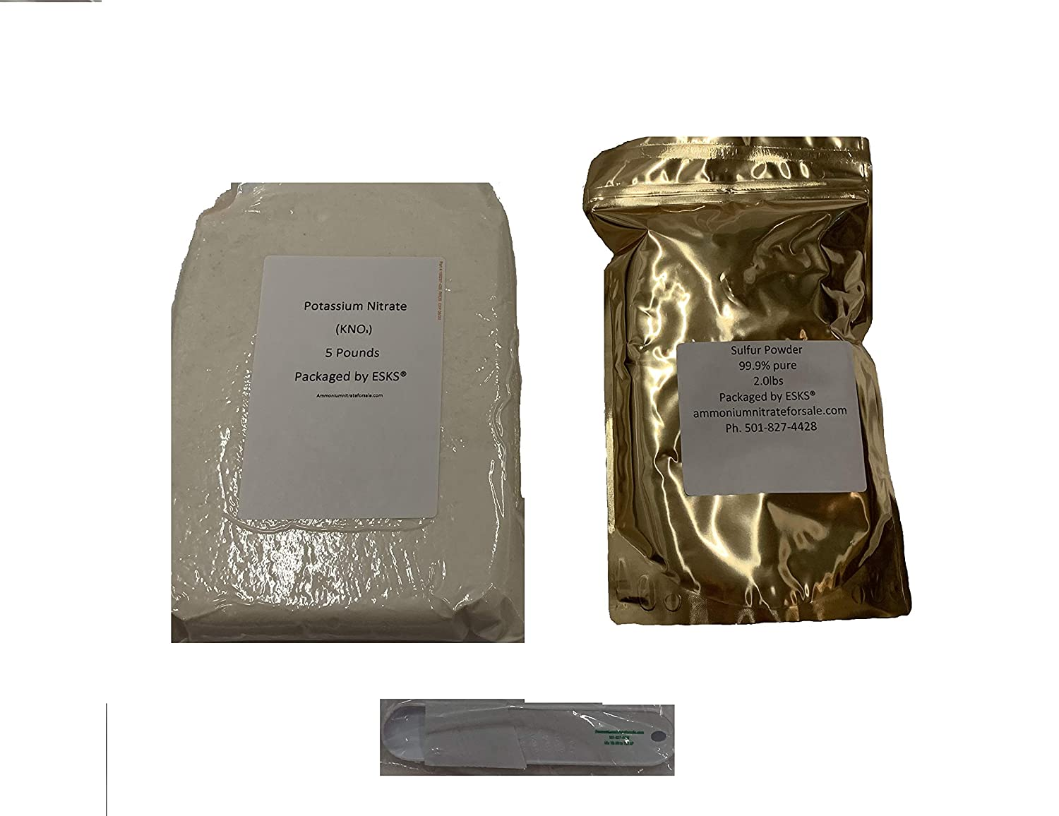 5lb Potassium Nitrate and 2lb Sulfur Powder Combo by ESKS