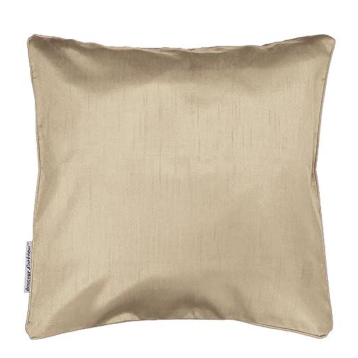 Douceur d Intérieur Shana Funda de cojín + Encart 60 x 60 cm Shantung Uni Shana poliéster 60 x 60 cm, poliéster, Lino, 60 x 60 cm
