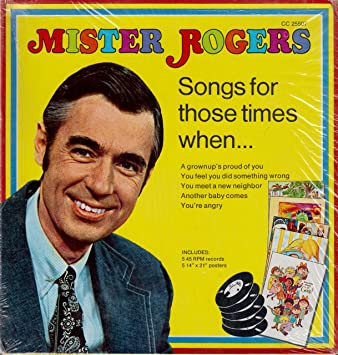 Fred Rogers 1972 Mister Rogers Sings For Those Times When Another Baby Comes When The Baby Comes It S You I Like 7 45 Rpm Vinyl Record Amazon Com Music