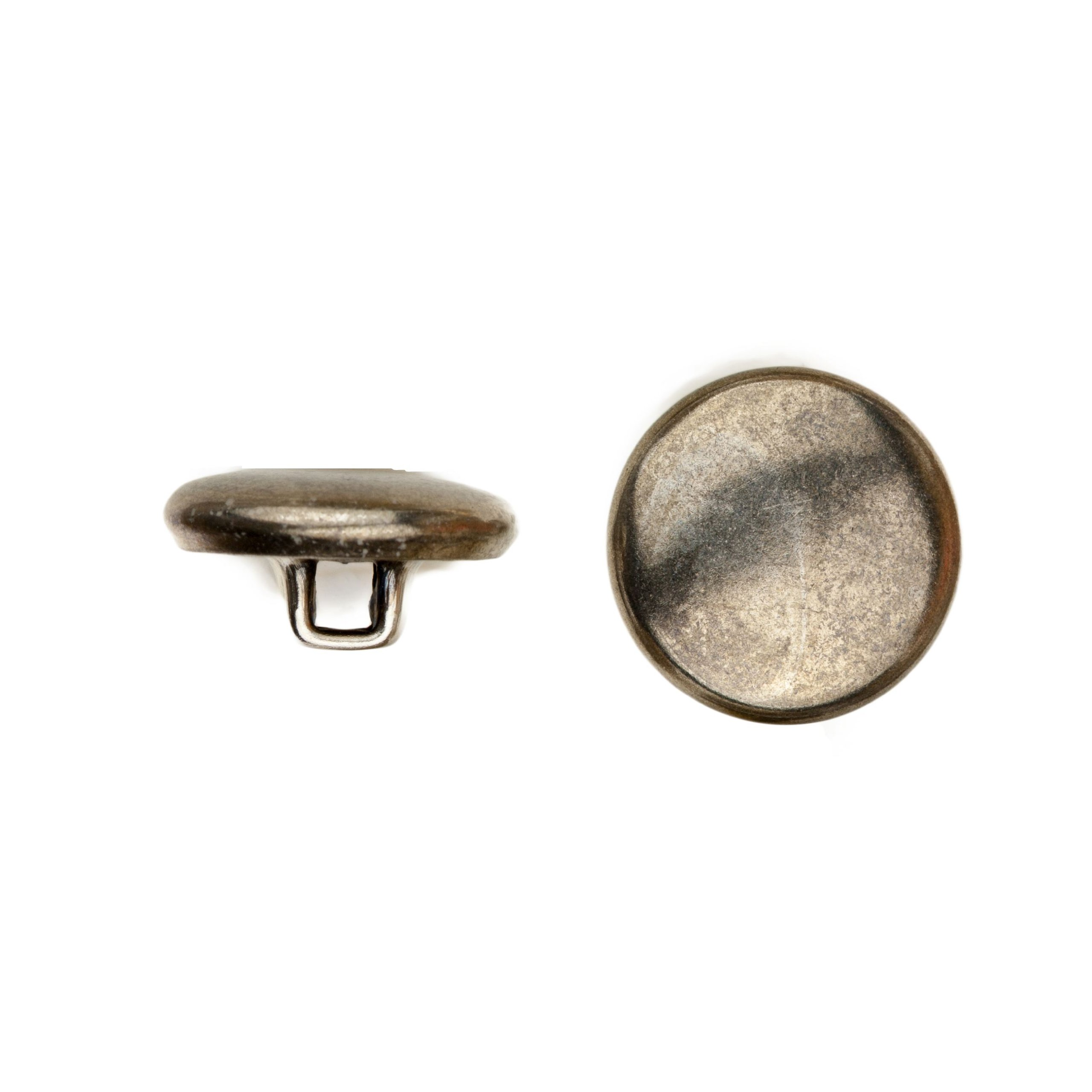 C&C Metal Products Corp 5002 Quarter Dome Metal Button, Size 24, Colonial Nickel Finish, 45-Piece