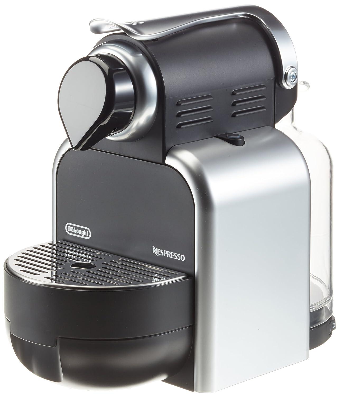 Nespresso Essenza Automatic Silver EN95S DeLonghi - Cafetera monodosis (19 bares, Automática y programable, Modo ahorro energía), Color plateado