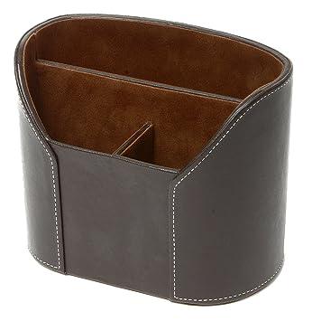 Artikle Leather Corporate oval desk organiser holder