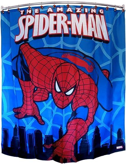 Amazon Spiderman Marvel Polyester 70 X 72 Inch Shower Curtain