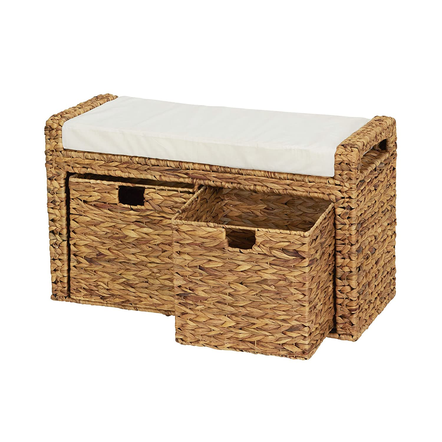 Amazon Household Essentials Entryway Wicker Cushioned Storage