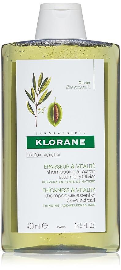 Klorane Champú al Extracto Esencial de Olivo Cabello Con Pérdida de Densidad, 400ml
