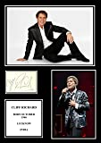 STUNNING QUALITY CLIFF RICHARD SIGNED / AUTOGRAPHED PHOTO