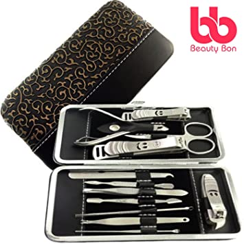 Manicure Pedicure Set Nail Clippers 12 Piece Stainless Steel Hygiene Kit