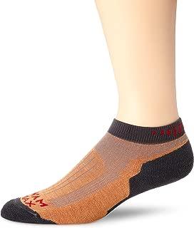 product image for Wigwam Men's Merino Ridge Runner Pro Quarter Socks, Orange, Sock Size:10-13/Shoe Size: 6-12