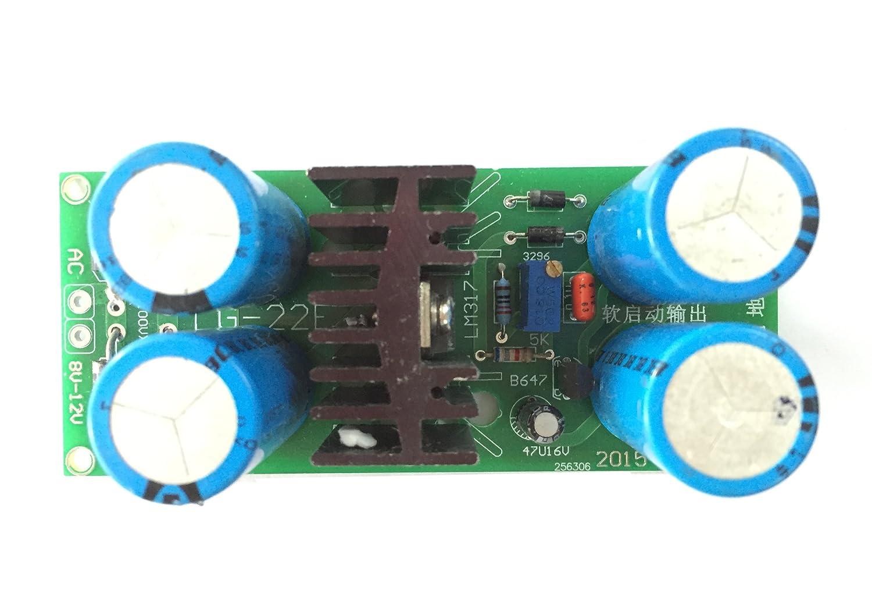 Qianson Tube Amplifier Filament Lm317 Adjustable Regulator Soft Dc Voltage Module Mpjacom Start Power Supply Board Musical Instruments