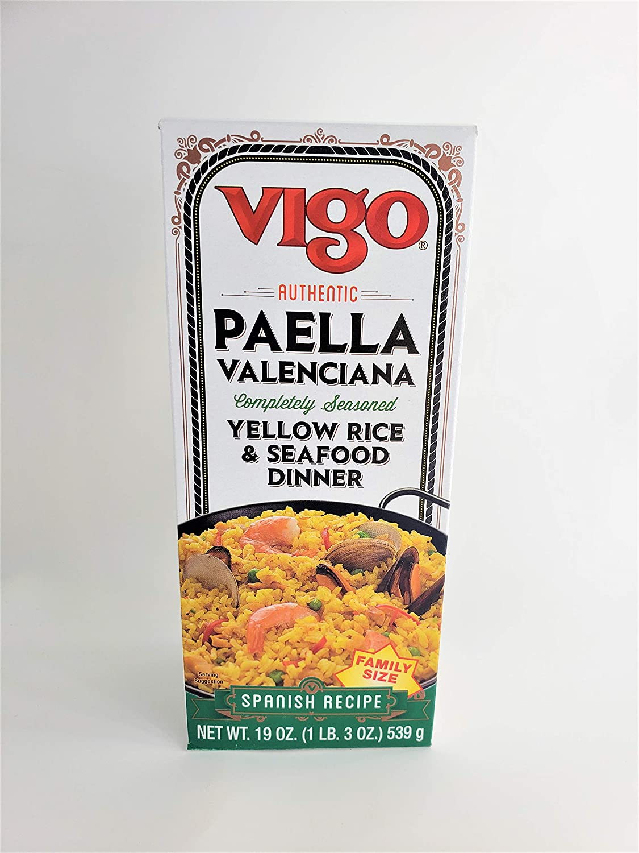 Vigo Paella Valenciana Yellow Rice Mix 19 Ounce( 2 - Pack )