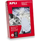 APLI Kids 392 - Pack de 1000 etiquetas colgantes, 36 x 53 mm, color blanco